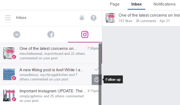 How to Manage Instagram via the Facebook Inbox : Social