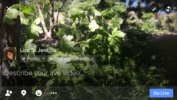 horizontal facebook live video