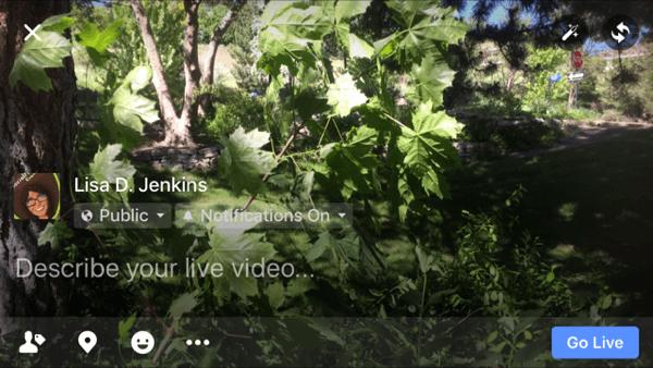 horizontal facebook live video