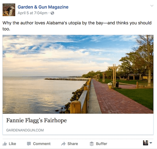You can test multiple variables on an article share like this, including the post copy, the image, and the headline copy.