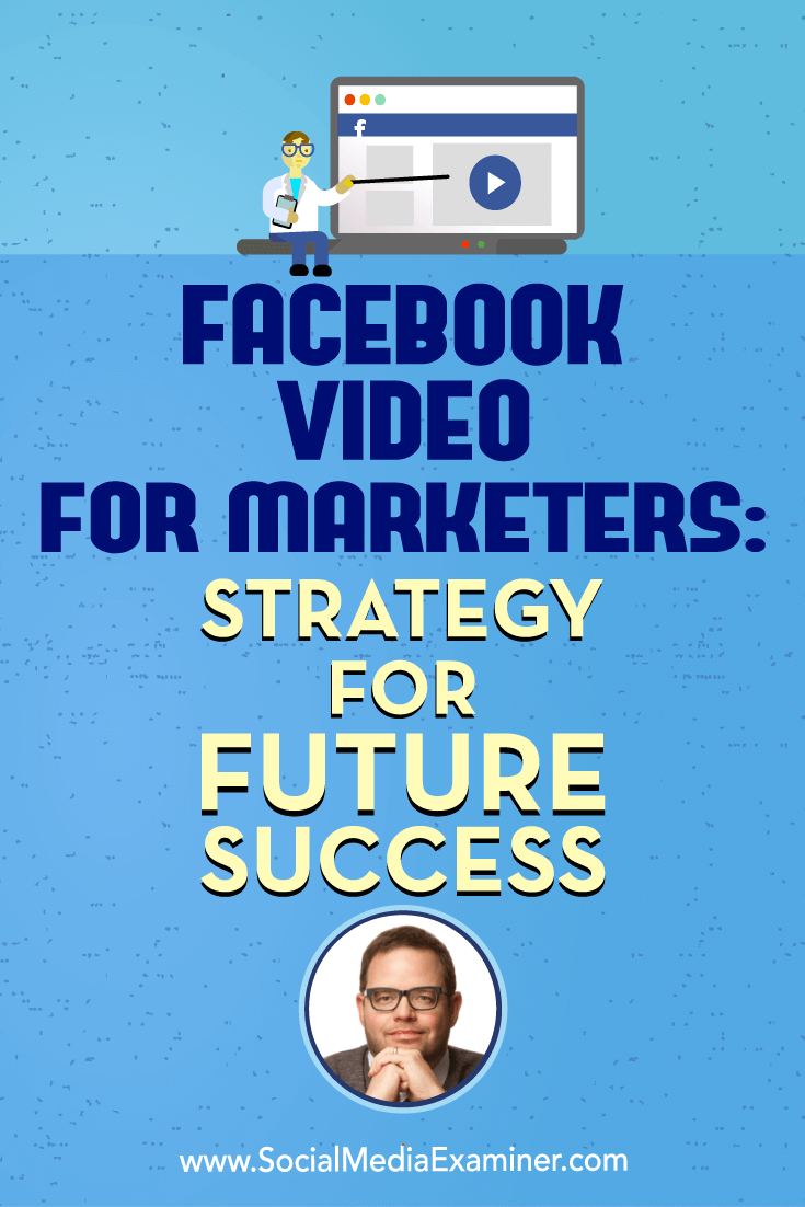 Facebook Video for Marketers: Strategy for Future Success featuring insights from Jay Baer on the Social Media Marketing Podcast.