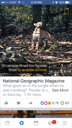 facebook mobile video with text overlay