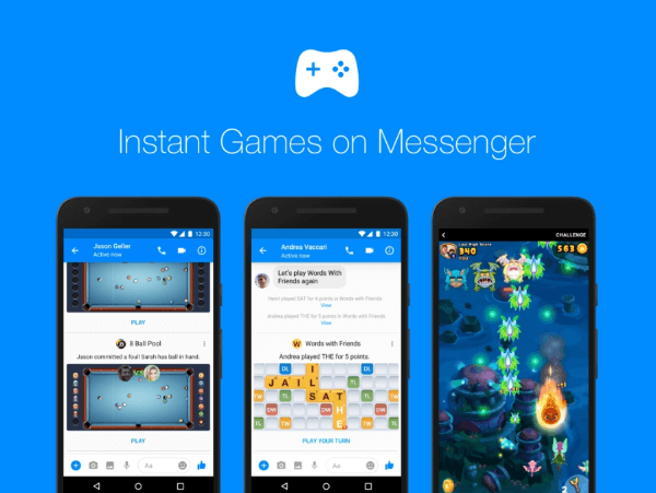 Facebook is rolling out Instant Games on Messenger more broadly and launching new rich gameplay features, game bots, and rewards.