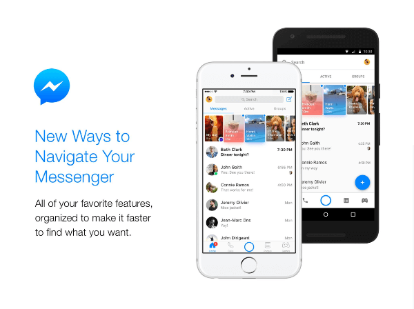 Facebook announces a new look and new features for the Messenger home screen.