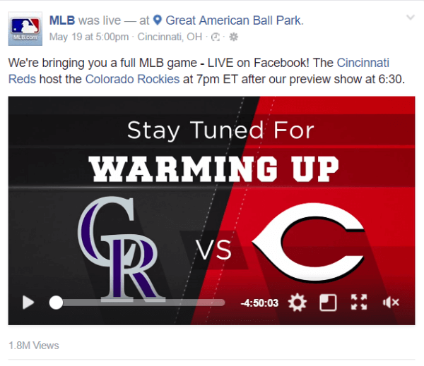 Facebook partners with Major League Baseball on a new live streaming deal.