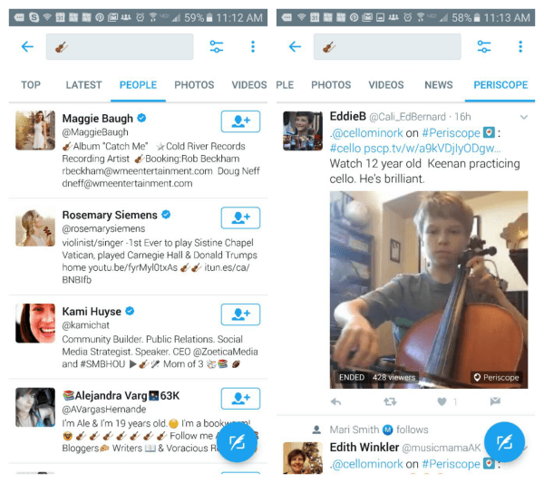 Twitter adds ability to seach Twitter and Periscope using emojis.
