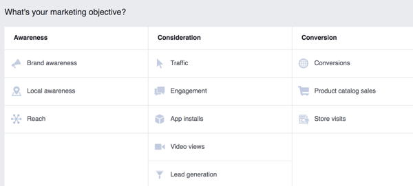 Your campaign goal helps Facebook determine which people in your target audience will see your ad.