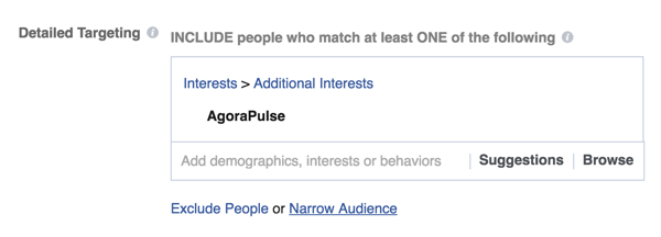You can target your Facebook ads to people who are interested in a specific company.