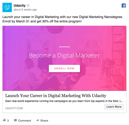 Facebook Remarketing Tactics That Work Social Media Examiner - Digital marketer facebook ad template