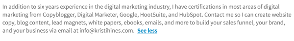 At the end of your LinkedIn summary, include a specific call to action.