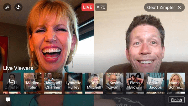 two person facebook live broadcast