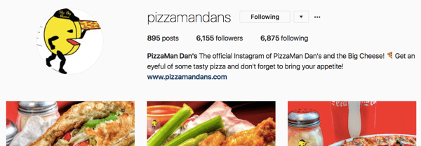 Pizzamandans instagram account has grown through consistent effort over time.