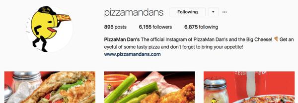 Pizzamandans instagram account has grown through consistent effort over time.