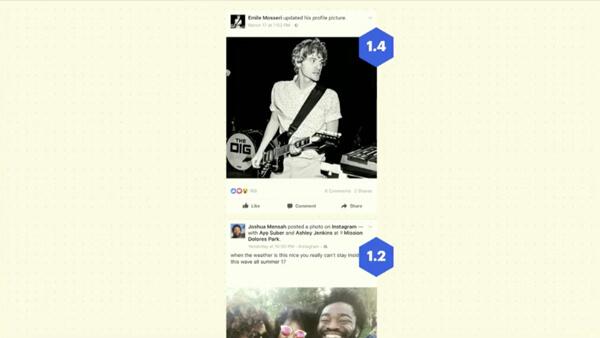Each Facebook user has a unique news feed.