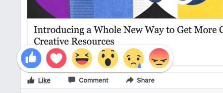 Facebook reactions affect your content ranking slightly more than likes.