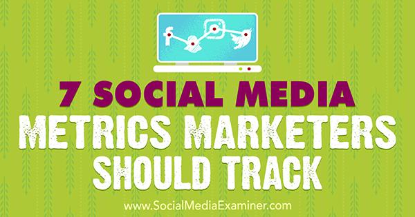 7 Social Media Metrics Marketers Should Track by Sweta Patel on Social Media Examiner.