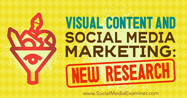 Visual Content and Social Media Marketing: New Research by Michelle Krasniak for Social Media Examiner