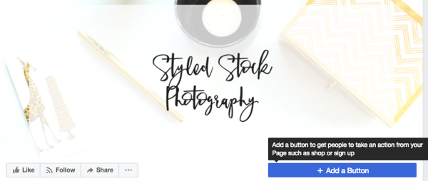 Add a Call To Action button to your Facebook business page cover photo.
