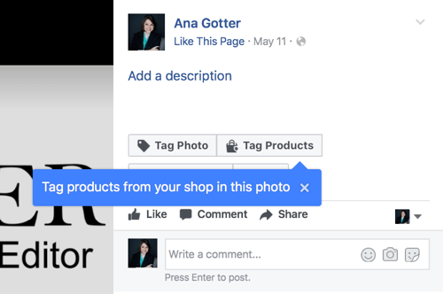 Make sure you click Tag Products instead of Tag Photo.