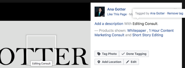 Even if you don't have a Facebook shop, tagging your products can help users identify them, making it easier to find products on your own site.