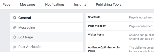 To change your Facebook page template, go to Edit Page in your Settings.