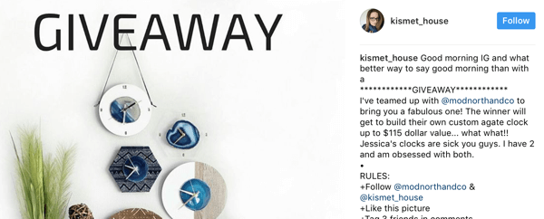 Instagram Giveaway Rules