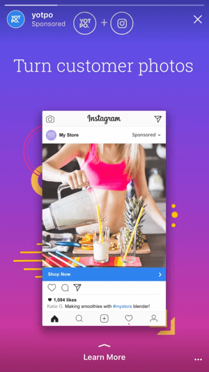 The new Instagram story ad objectives let you send users to your site and apps, driving real conversions instead of just hoping for brand awareness.