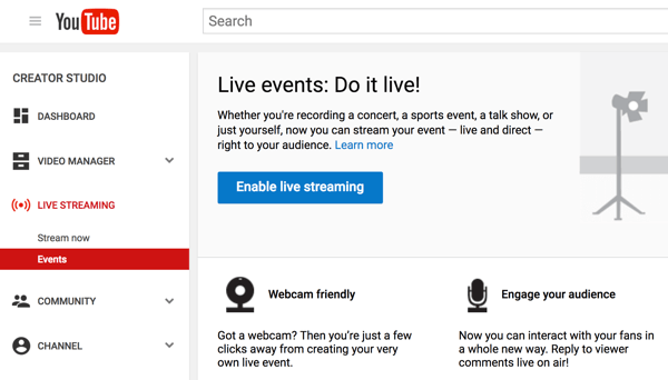 Set up Hangouts On Air with YouTube Live to do your video interview.