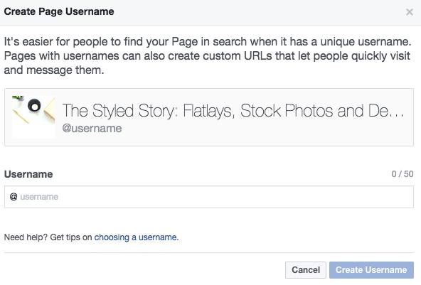 Tạo một tên người dùng để giúp mọi người tìm thấy bạn dễ dàng.
