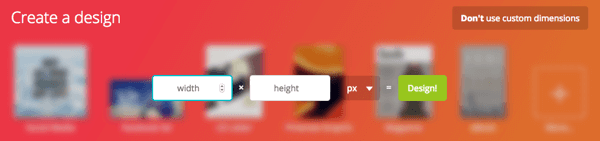 Create a profile image in Canva at 180 x 180 px.