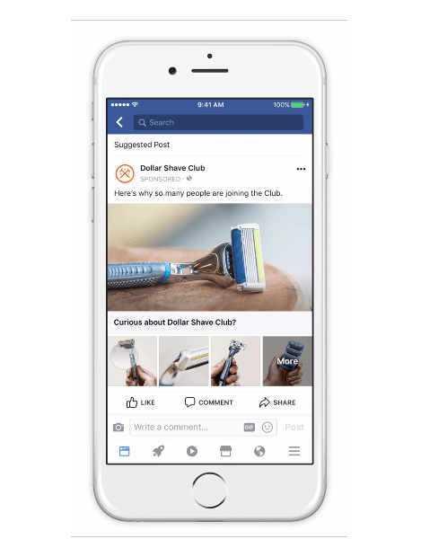 Advertisers can now attach a Canvas ad that opens instantly when people click on a collection or create a Canvas ad from scratch and attach it to the collection.