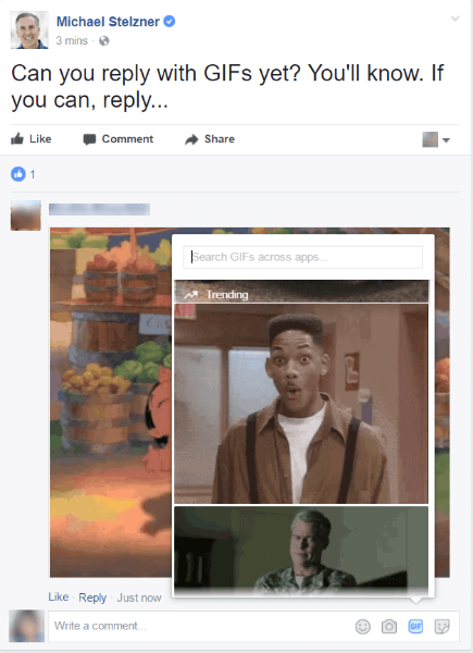 Facebook rolls out a new GIF icon to all users worldwide.