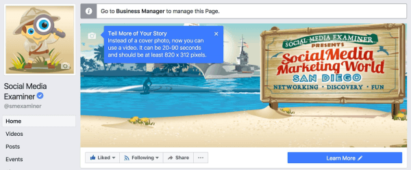 Facebook expands the ability toupload videos as cover images to more pages.