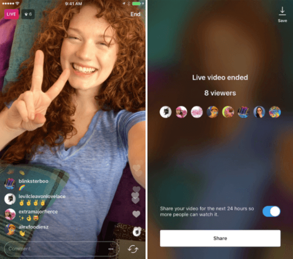 Instagram introduced the ability to share a live video replay to Instagram Stories for 24 hours.