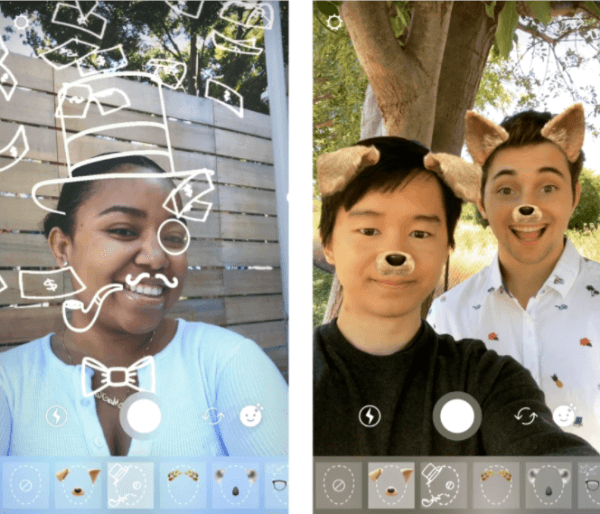 The Instagram Camera rolled out two new face filters that can be used on all Instagram photo and video products.