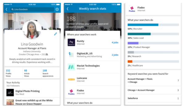 LinkedIn rolled out a new search feature on mobile and desktop that makes it easier to be found for new jobs or professional opportunities.