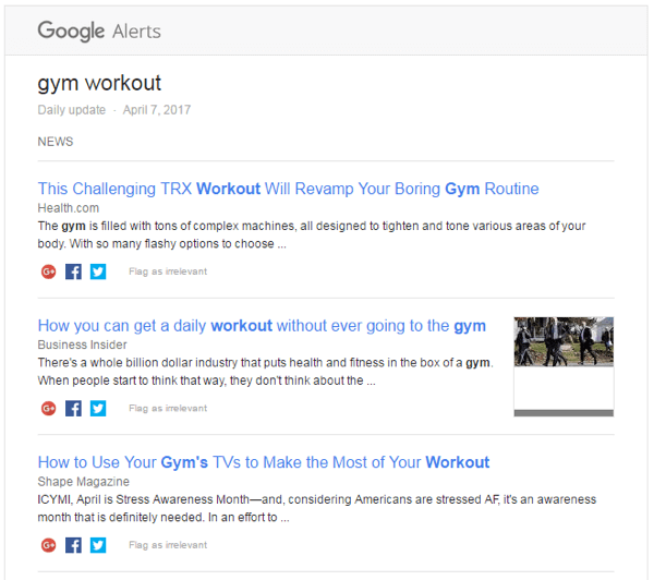 how to set up google alert for keywords