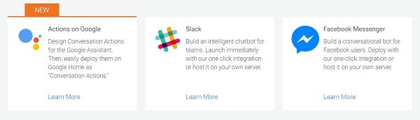 Create a bit for multiple platforms using API.AI.