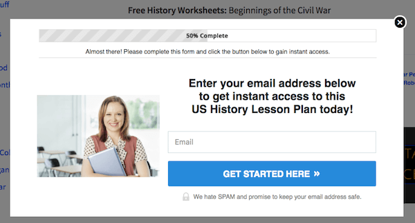 First, give people in you niche a freebie. Then, show them an ad that requires an them to opt-in.