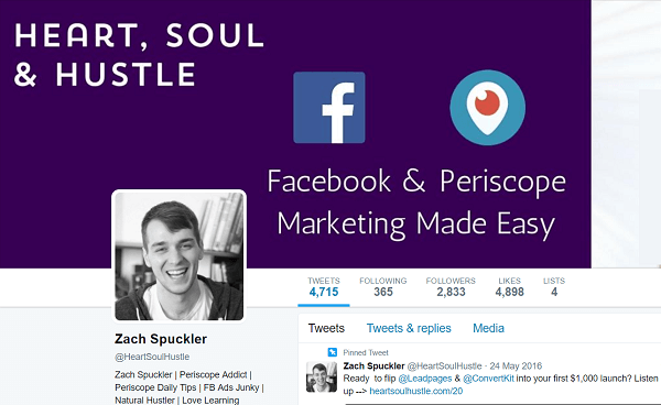 Rather than teach things that work in theory, Zach shares his experience with Facebook ads on Heart, Soul & Hustle.