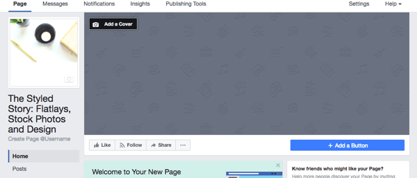 Load your profile picture to your new Facebook business page.