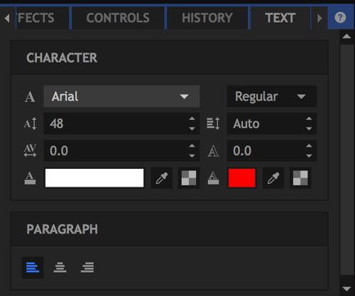 You can choose from a number of formatting options for your text.