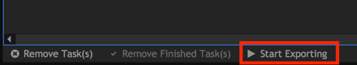 Click Start Exporting at the bottom of the screen.