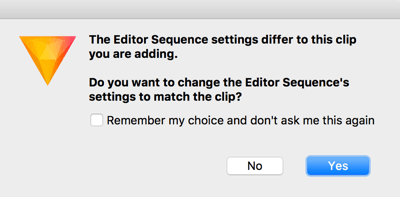 Click Yes if you see this pop-up message.