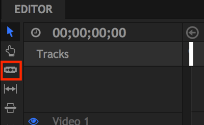 The Slice tool lets you edit out pauses in your video.