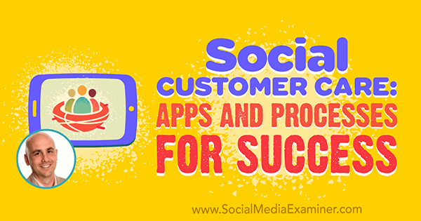 Social Customer Care: Apps and Processes for Success featuring insights from Dan Gingiss on the Social Media Marketing Podcast.