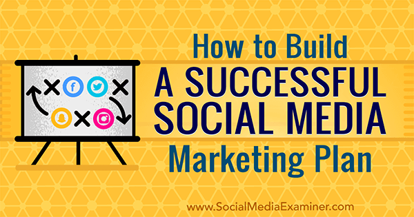 Learn to build a social media marketing plan for your business.