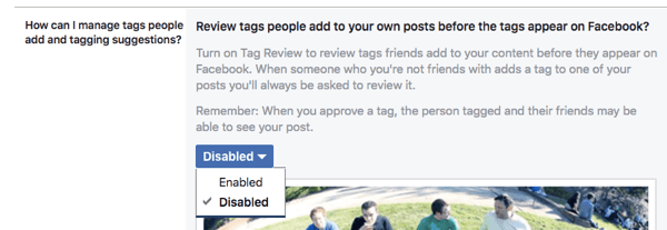 Enable the features that will let you review any timeline posts or tags before they show up on your timeline.