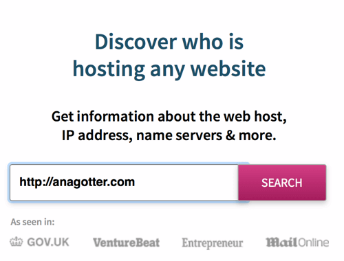 WhoIsHostingThis identifies a site's hosting provider in seconds.
