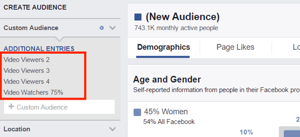 View Audience Insights for all of your custom audience segments.